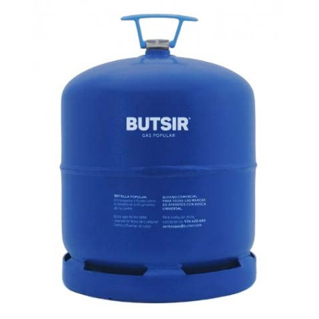 BOTELLA GAS BUTANO ROSCA UNIVERSAL (AZUL) 2,8 kg